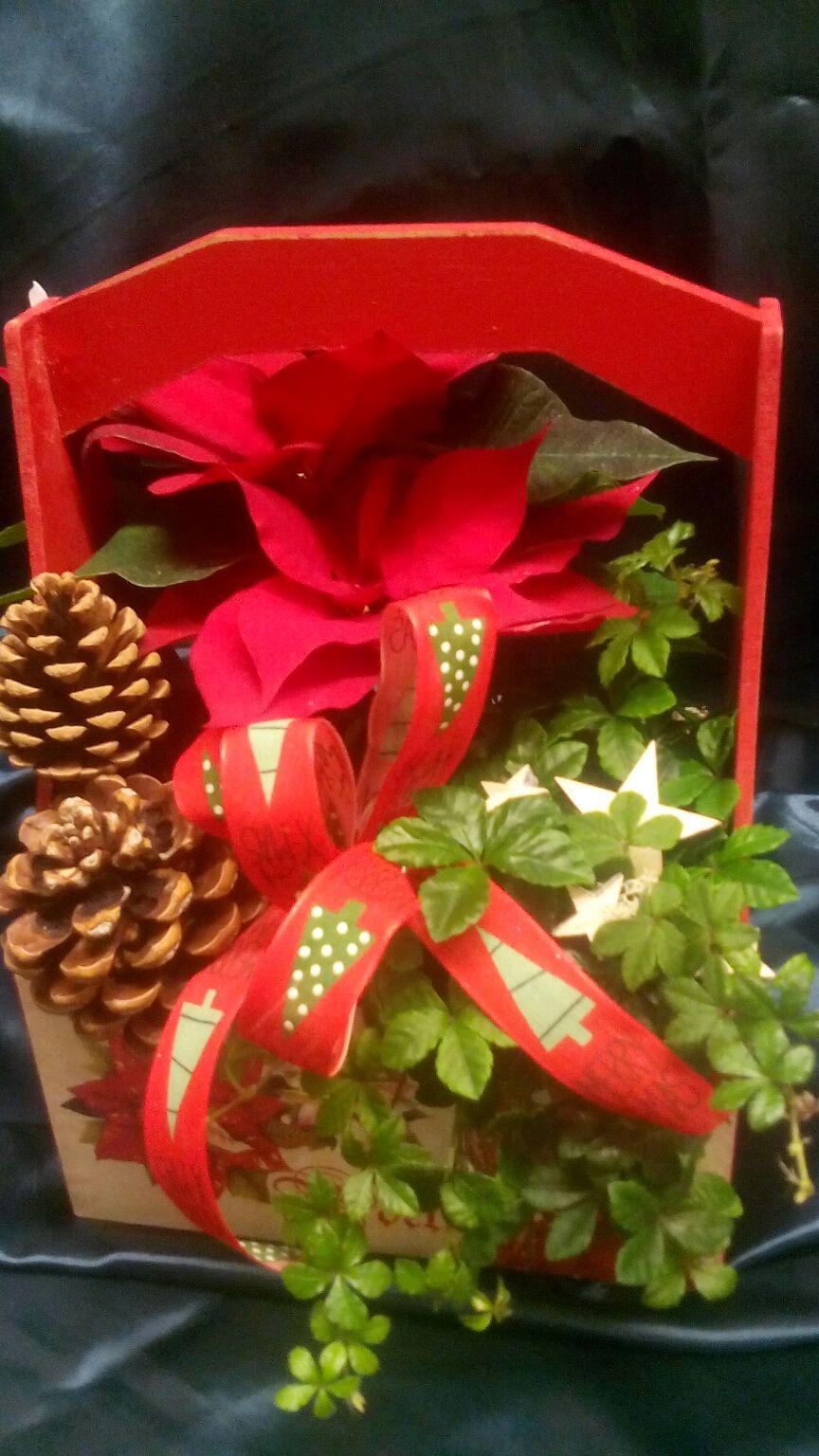 Cesta de flores navidad florister a en logro o enviar for Cesta arbol navidad